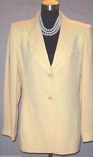 Ellen Tracy Dress Suit Jacket Size 8 Medium Yellow Button Front M  New $375