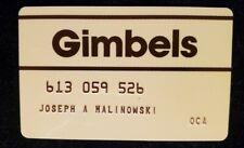 Gimbels charge cardâ—‡free shipâ—‡cc1834A