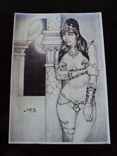 DEJAH THORIS artist Carlos Augusto - ltd edition print signed plate & handsigned