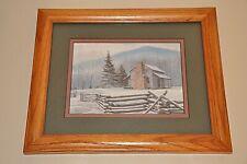 Framed 5x7 Randall Ogle Print of John Oliver Cabin Cades Cove