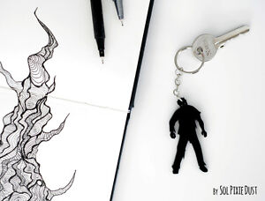 Key chain - Halloween Night of the Living Dead Zombies - Silhouette 2