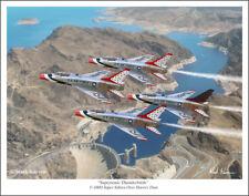 "Thunderbirds F-100D Super Sabres Aviation Art Print - 11"" x 14"""