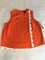 Victoria Beckham for Target 3X Plus Size Shirt Orange Scallop Shell Twill NWT