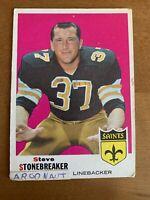 1969 Topps Football #174 Steve Stonebreaker New Orleans Saints