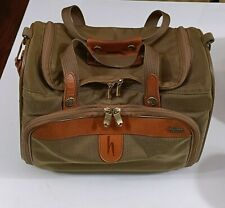 Vintage Hartmann Leather Trimmed, Lined Travel Bag High Quality Luggage