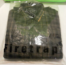 Firetrap Politix Men's Winter Quilted Shirt/Jacket XL Gray Plaid New