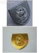 Car Front Grille Fender Metal Emblem Badge Gun SHOT CLUB Gold Silver