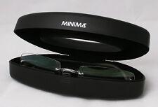 Titanium Grey Rimless Eyeglass Glasses Frame Rubber Ear
