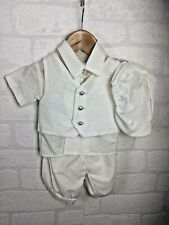 Baby Boys Suit Outfit for Wedding Christening Baptism Event 0-6m Cream 487