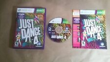 Just Dance 4 For Kinect (Xbox 360, 2012) Complete With Manual Ships Fast