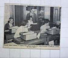 1960 Partially Sighted Children At Clapham Park School Typing Instruction