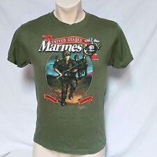 VTG 1987 Just Brass T Shirt Marines 80s 3D Emblem 50/50 USA America Biker Tee XL