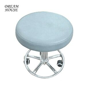 Stool Cover Round Seat Slip On Covers Faux Leather Home Bar Chair Seat Cushion