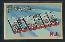 """Large Letter Postcard - New Jersey - """"Greetings From Newark"""" - #2"""