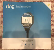 Ring Solar Security Sign - Brand New
