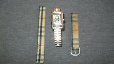 VINTAGE WOMEN'S BURBERRY WATCH WITH METAL AND CLOTHE BANDS