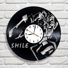 Joker Smile design vinyl record wall clock home art kids bedroom move game