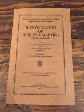 Vtg 1945 Identification Of Barley Varieties Brochure Pamphlet Canada Farming