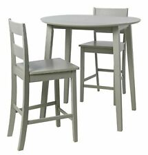 Home Chicago Extending Bar Table & 2 Stools - Grey