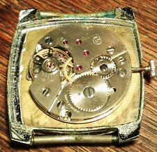 Golana HAU Handaufzug, Massivgold-Unruhe, 17 Jewels, selten und schön