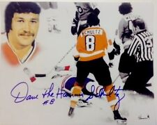 Philadelphia Flyers Dave The Hammer Schultz The Knockout Photo Autographed
