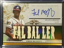 2014 Triple Threads Relics Gold FRED McGRIFF Auto Used Bat Relic /9 #TTAR-FM2