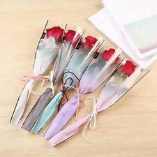 Simple Plastic Festival Gift Packaging Bag For Single Rose Flower Branch Crafts