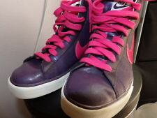 NIKE High Top Sneakers Dance Shoes Ankle Boot Leather Purple Pink Womens 10 M