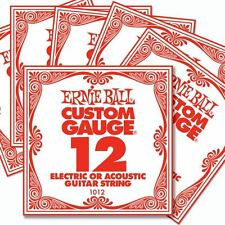 6 Pack Ernie Ball Custom Gauge 12's Guitar Single Strings Electric / Acoustic