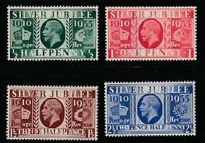 Great Britain   1935   Sc # 226-29   Silver Jubilee   MLH   (4045-1)