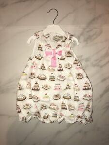 Darcy Brown Baby Girl Dress Cake Cupcake Deserts Bow 18m