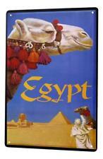 Tin Sign Decoration Holiday Travel Agency Egypt Camel 8X12