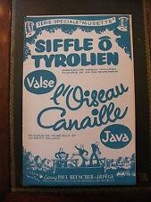 Partitur Pfeift o tiroler Valse L'oiseau Kanaille Java René James Davis
