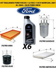 KIT TAGLIANDO FORD FOCUS I 1.8 TDCi 115CV 85KW DAL 2001 AL 2004 + OLIO FORD 5W30