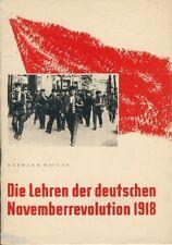 Matern Die Lehren der deutschen Novemberrevolution 1918 DDR Propaganda 1958