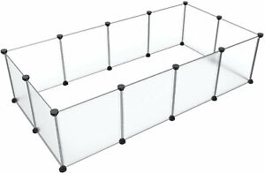Tespo Pet Playpen, Small Animal Cage Indoor Portable Metal Wire Yard Fence for S
