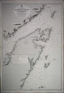 North America - Newfoundland, British Admiralty Chart 282, published 1882