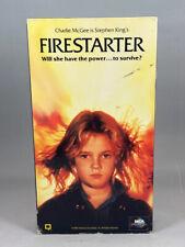 Firestarter (1984) VHS - Stephen King movie