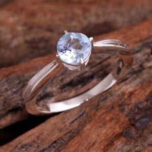 Blue Topaz Gemstone 925 sterling Silver Jewelry Designer Ring Size US 7.5