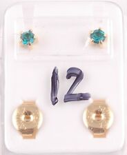 Studex Ear Piercing Tiffany Claw 4mm Regular Multi Colour Birthstone Gold Plated