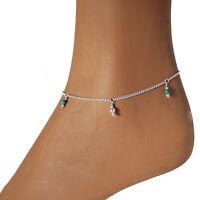 Fußkettchen Türkis Silber 925 zarte Fußkette Anklet Sterling Silver  2tkts