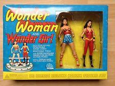 WONDER WOMAN & WONDER GIRL Figures. 2001 DcDirect. MEGA COLLECTOR ! NEW SEALED !