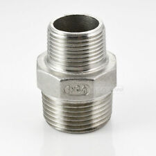 "NPT 1""x3/4"" Male M/M Hex Nipple Threaded Reducer Pipe Fitting SUS 304 megairon"