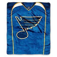 St Louis Blues 50x60 NHL Jersey Design Royal Plush Raschel Throw