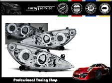 FARI ANTERIORI HEADLIGHTS LPPE09 PEUGEOT 307 2001 2002 2003 2004 2005 ANGEL EYES