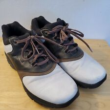New listing Nike Men's Sport Performance Golf Shoes Size 9 Brown Black White #309894-121