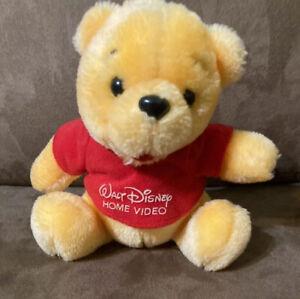 RARE Vintage Winnie The Pooh Walt Disney Home Video VHS Plush