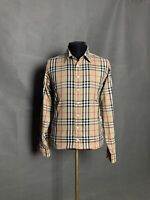 MINT! Burberry Nova Check Men's Beige Shirt Size 2XL