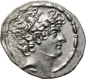 DIONYSOS Philippos Philadelphos AR-Tetradrachme Antiochia Zeus #NR 0312