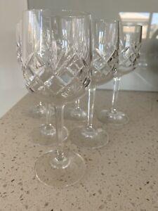 Bohemia Crystal Vintage Wine Glasses 6, Perfect- Never Used Lead Crystal